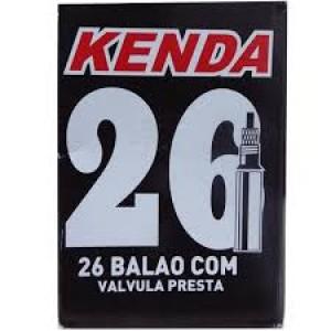 CÂMARA DE AR BICICLETA ARO 26 KENDA PRESTA FINO